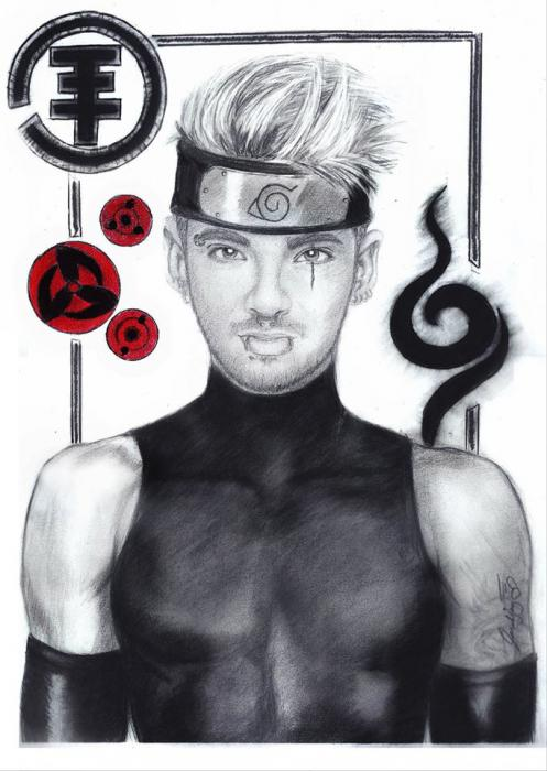 Naruto, Bill Kaulitz by lara-0630